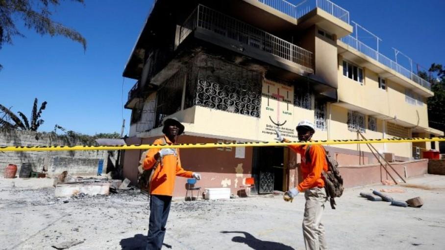 हैती के अनाथलाय में आग